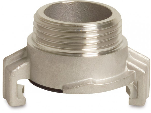 Stainless steel quick coupler with male thread