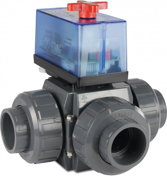 3-way actuated T-bore ball valve