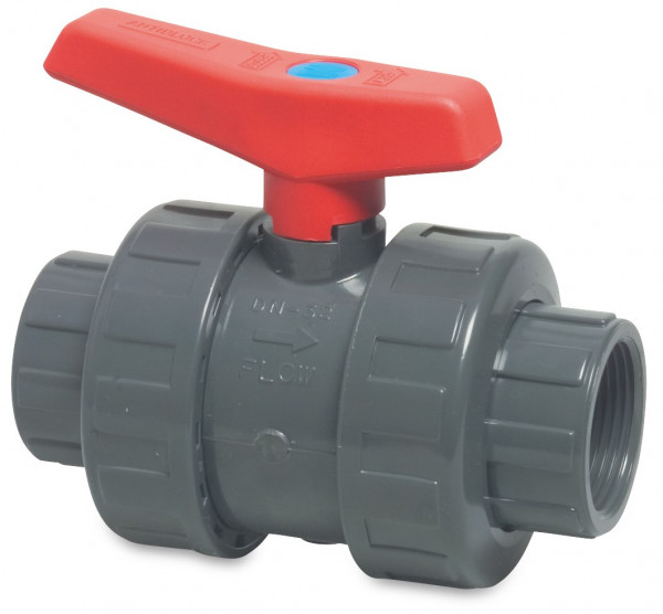 Mega Ball valve with double union, type 2050