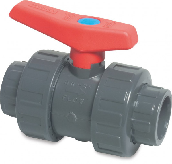 Mega Ball valve with double union, type 2000