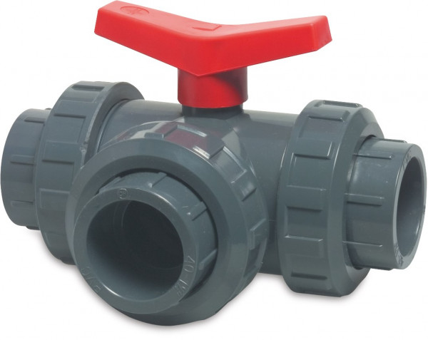 3-way L-bore ball valve