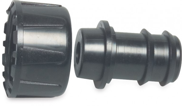 Barbed Hose tail 2/3 union adaptor